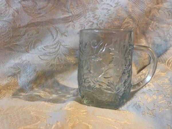 Vintage Princess House Clear Glass Mug Lead Free All