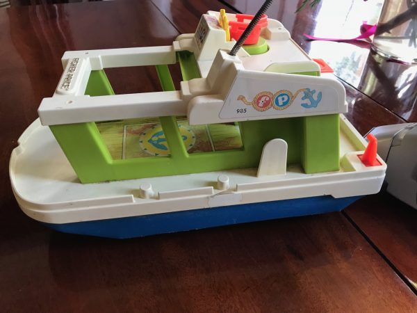 Leaded Vintage Fisher Price Motor Boat Toy C 1970