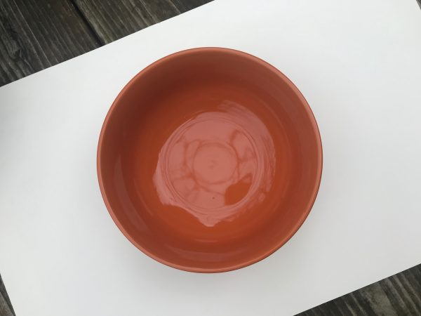 2019 Dollar Tree Store Royal Norfolk Orange Glazed Ceramic