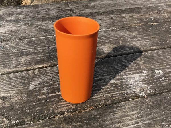 Orange Tupperware Cup Year Unknown Non Detect For Lead